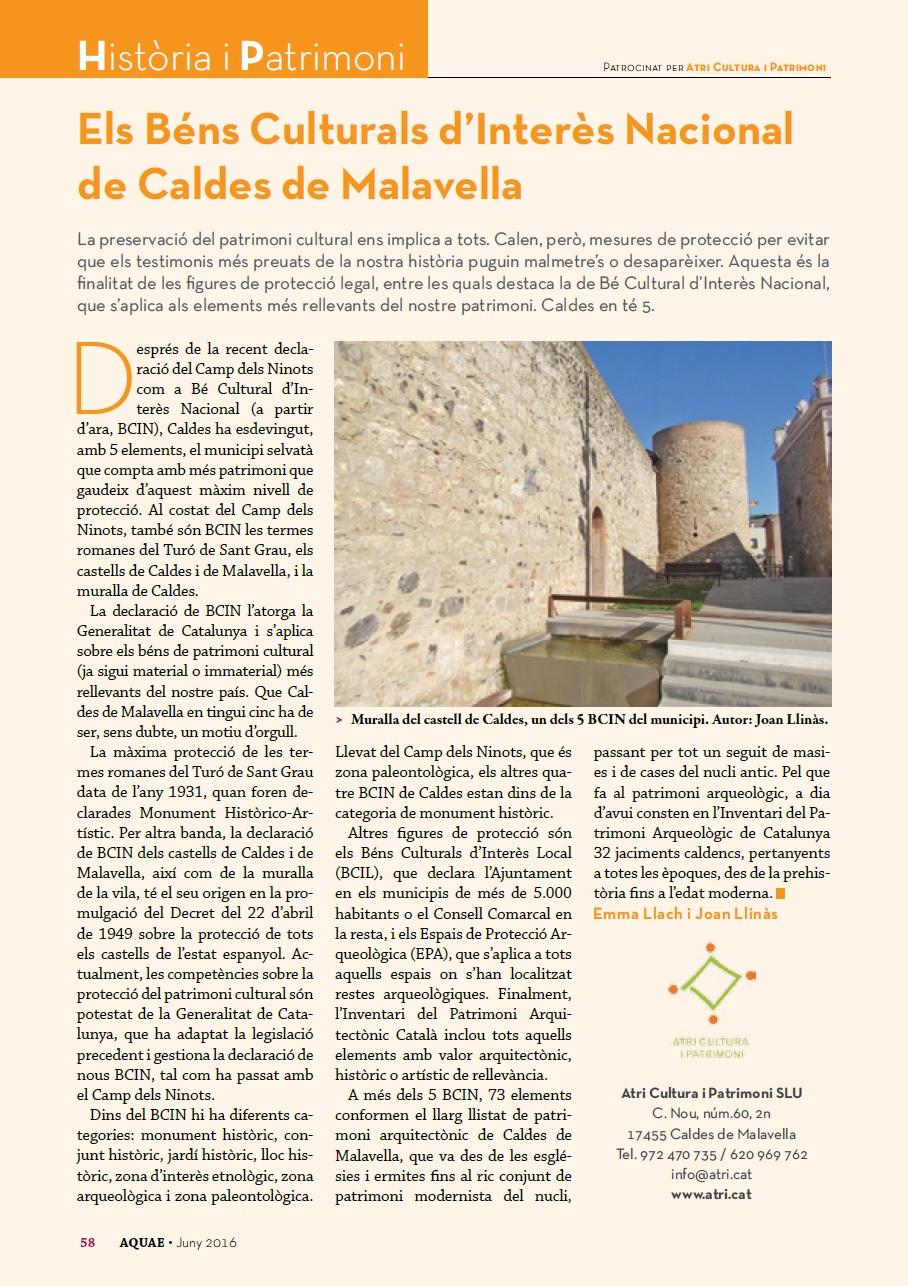 Revista Aquae núm. 54 (juny 2016)