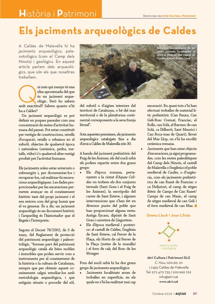 Revista Aquae núm.55 (novembre 2016)
